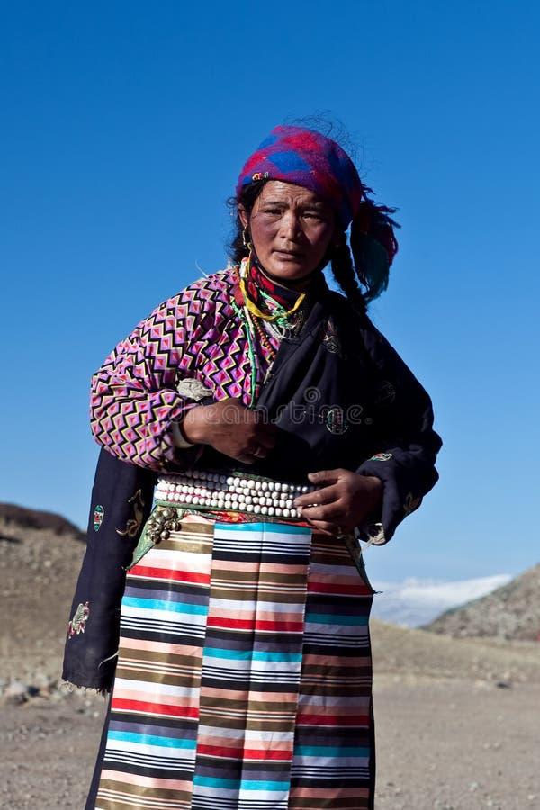 Tibetanische Frau lizenzfreie stockbilder