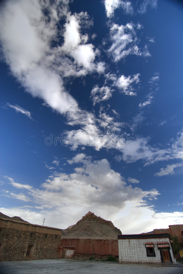 Tibetanische Gebäude lizenzfreie stockfotografie