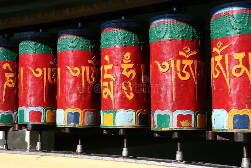 Tibetanische Gebetglocken lizenzfreie stockfotos
