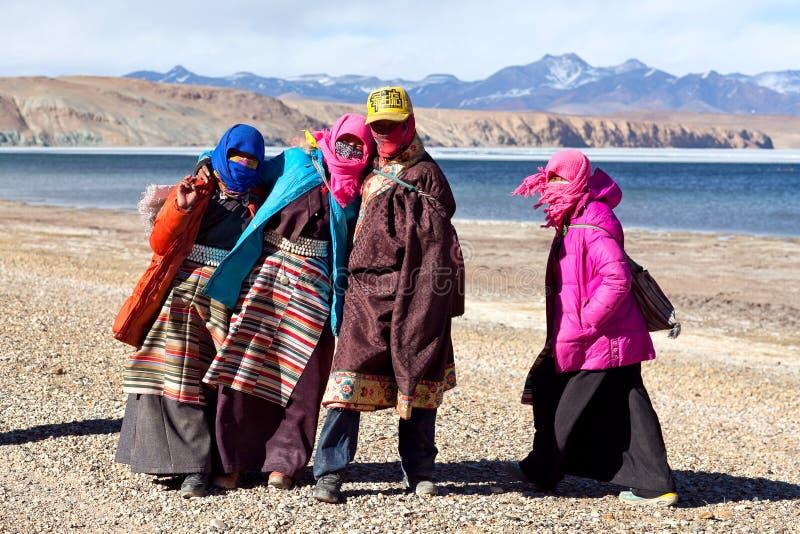 Tibetanische Leute lizenzfreie stockbilder