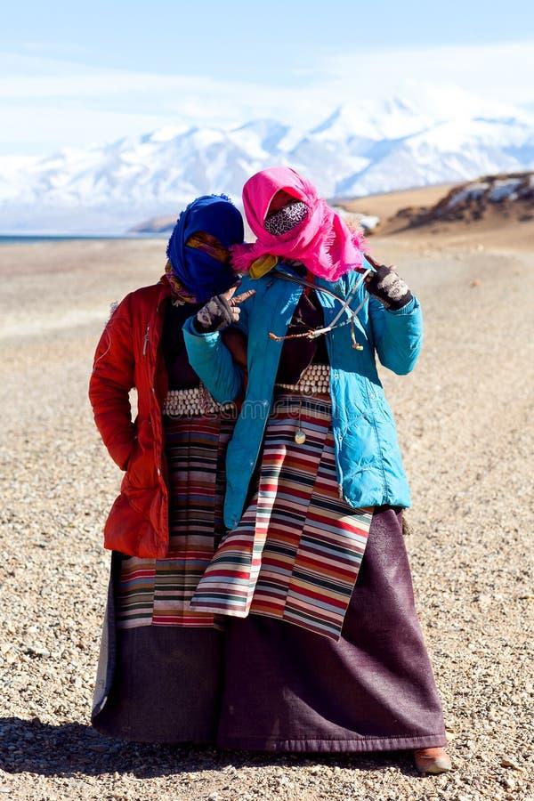 Tibetanische Pilgerer stockfotografie
