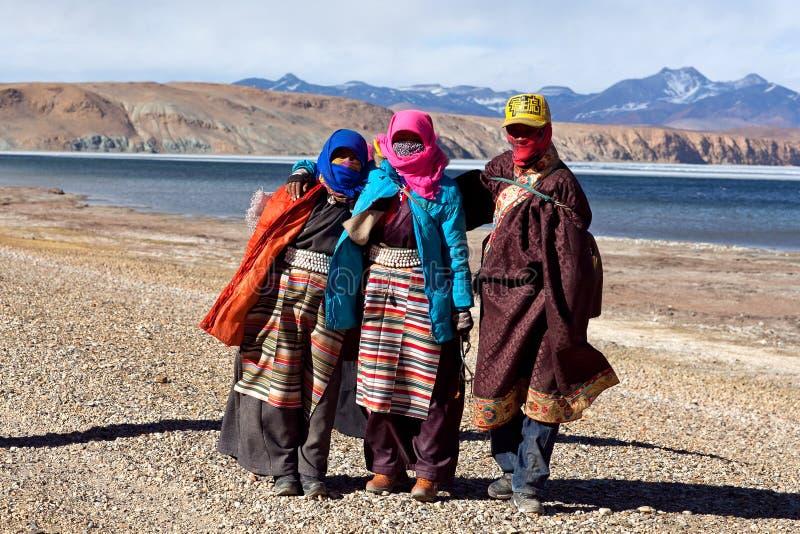 Tibetanische Pilgerer lizenzfreies stockfoto