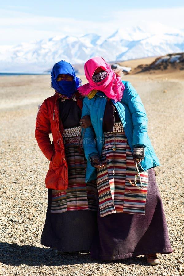 Tibetanische Pilgerer lizenzfreies stockbild