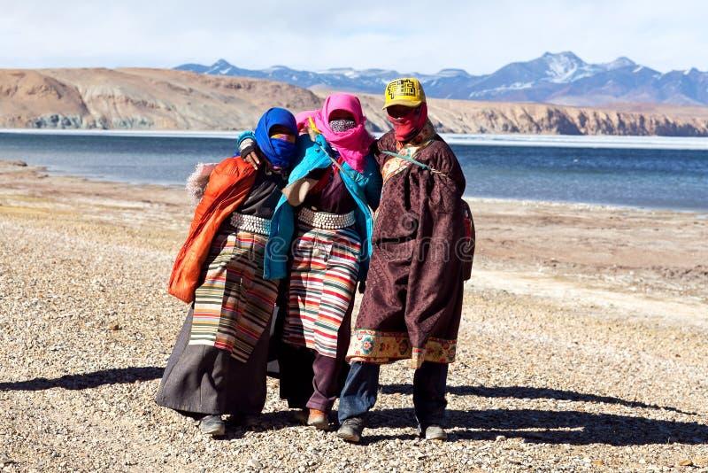 Tibetanische Pilgerer stockbild