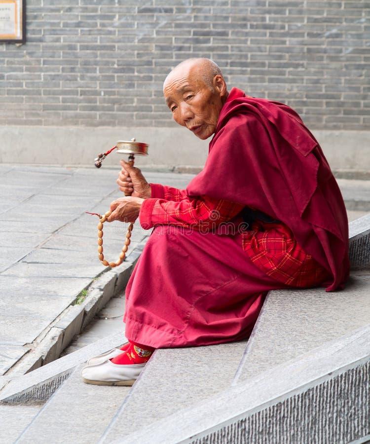 Tibetanischer Mönch stockfoto