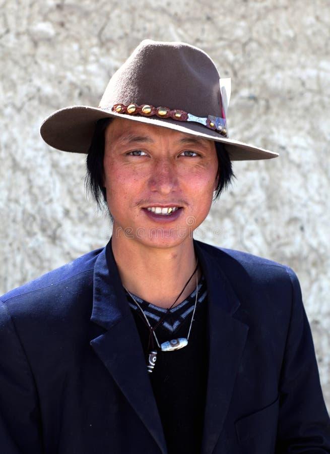 Tibetanischer Mann stockbild