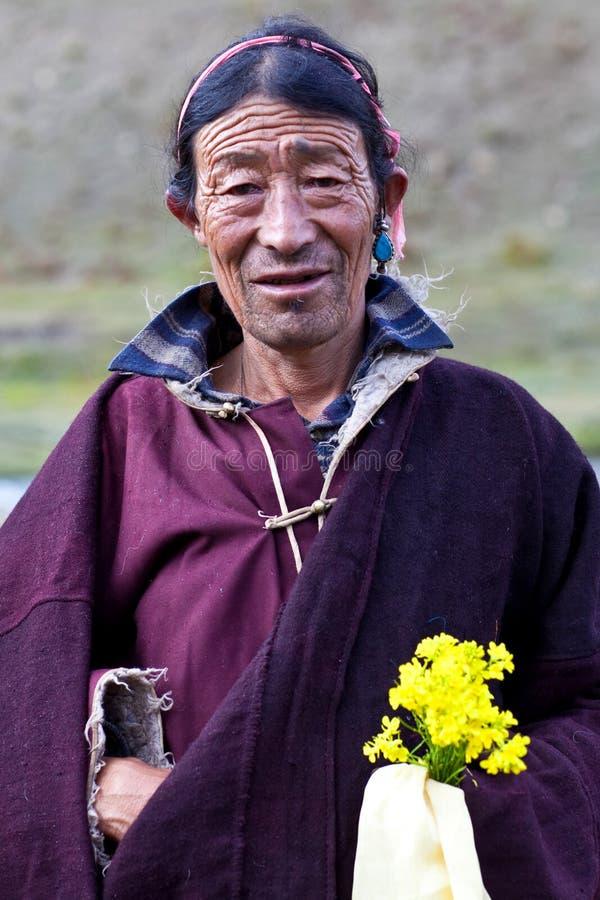 Tibetanischer Nomade stockfotografie
