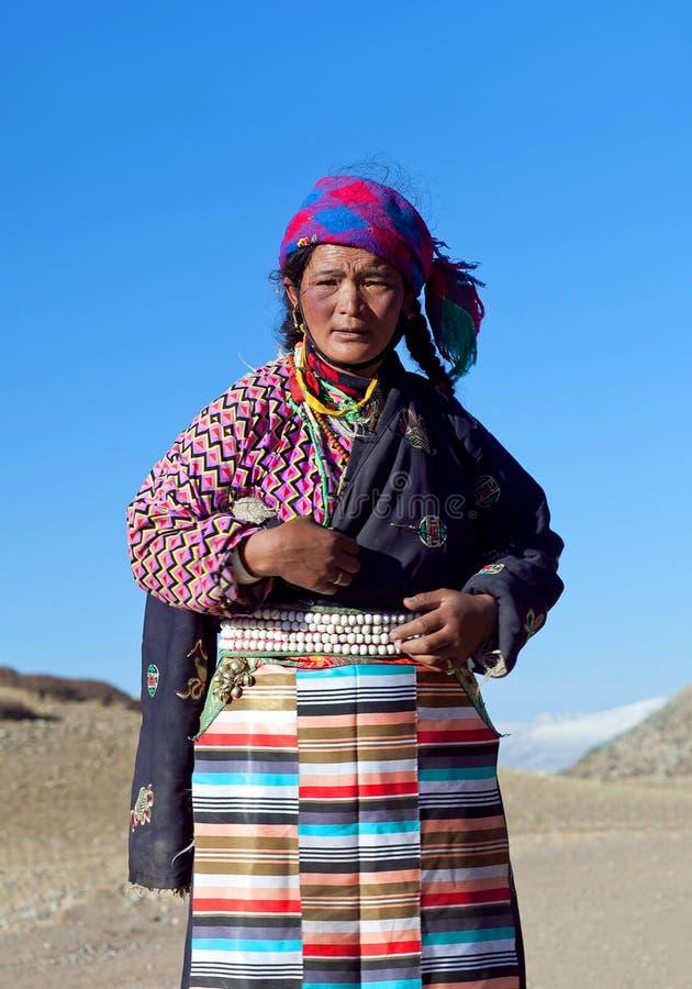 Tibetanischer Pilgerer stockfotos