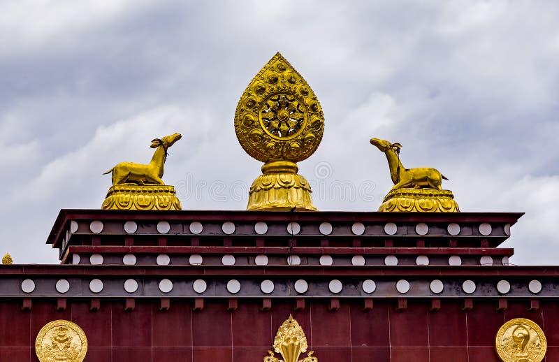 Tibetanisches buddhistisches Kloster Songzanlin, Zhongdian, Yunnan - China stockbild