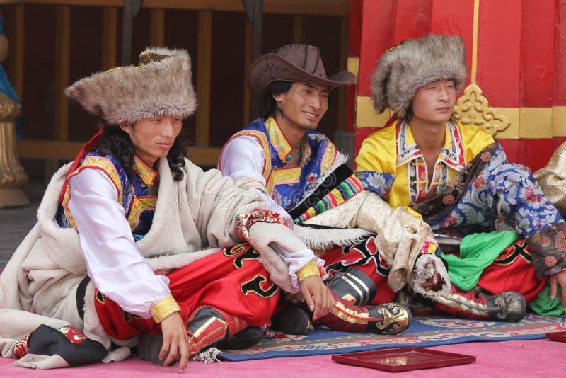 Tibetanisches Festival stockbild