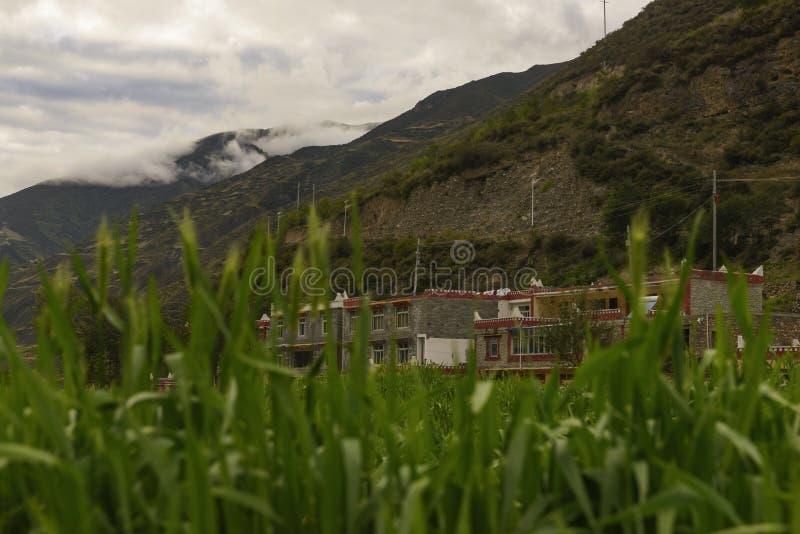 Tibetanisches Haus lizenzfreies stockbild