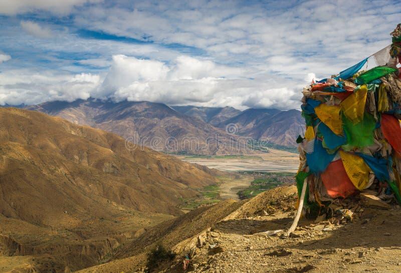 Tibetanisches Tal lizenzfreies stockfoto