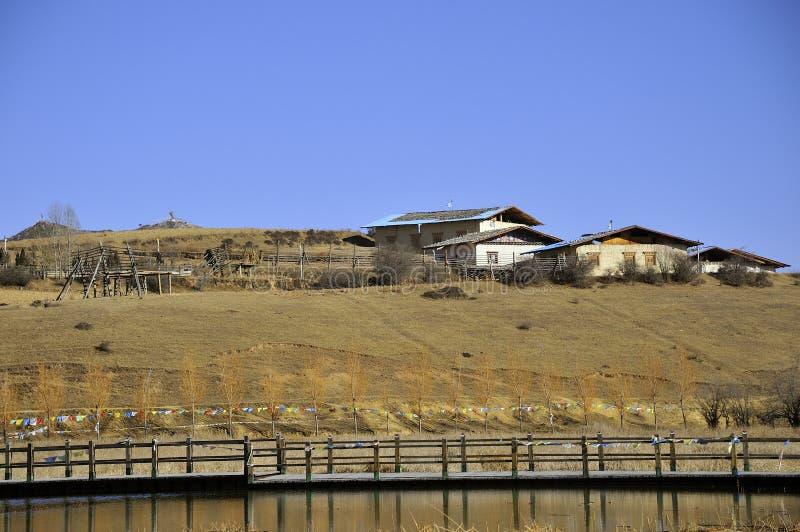 Tibetano residencial imagens de stock