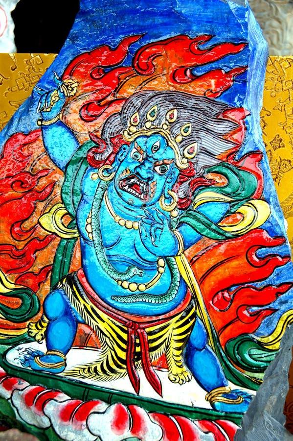 Tibetano tallado ilustración del vector