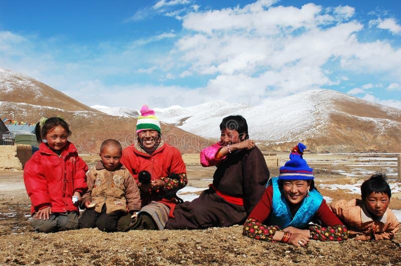 Tibetanos foto de stock