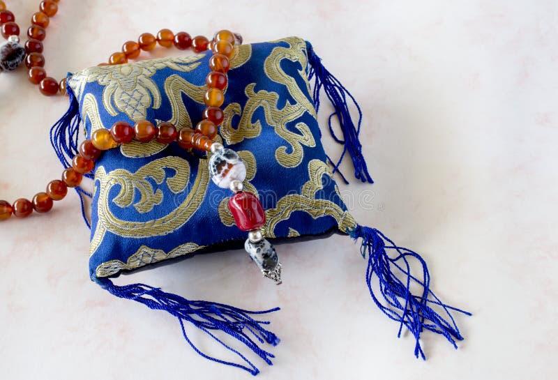 Tibetansk buddistisk rosary royaltyfri foto