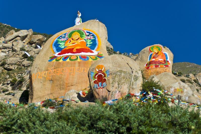 tibetant klosterberg royaltyfri foto