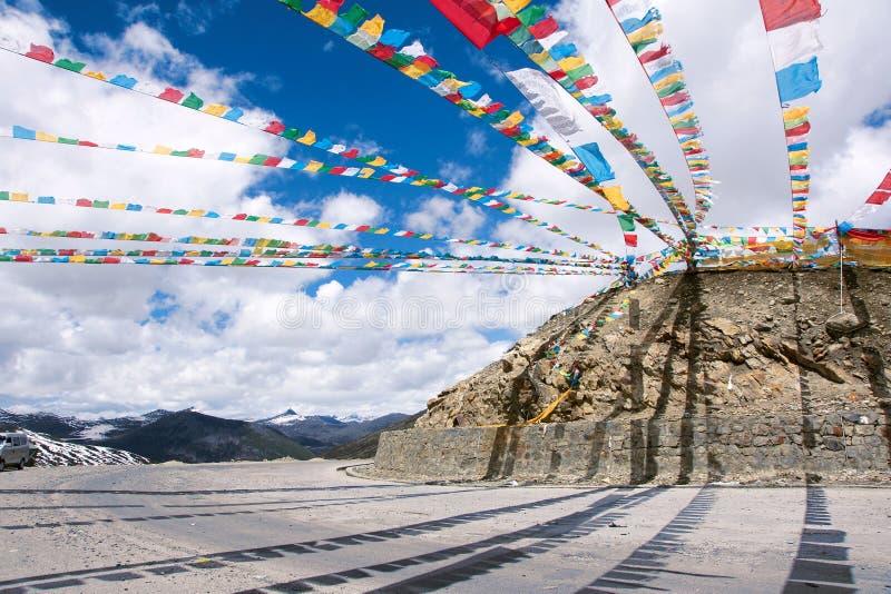 Tibetant landskap arkivfoton