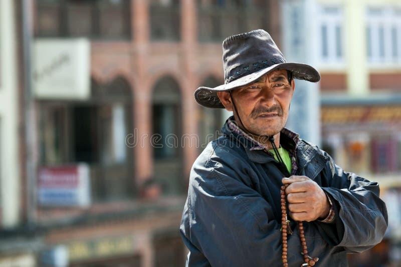 Tibetant vallfärda, Nepal royaltyfria foton