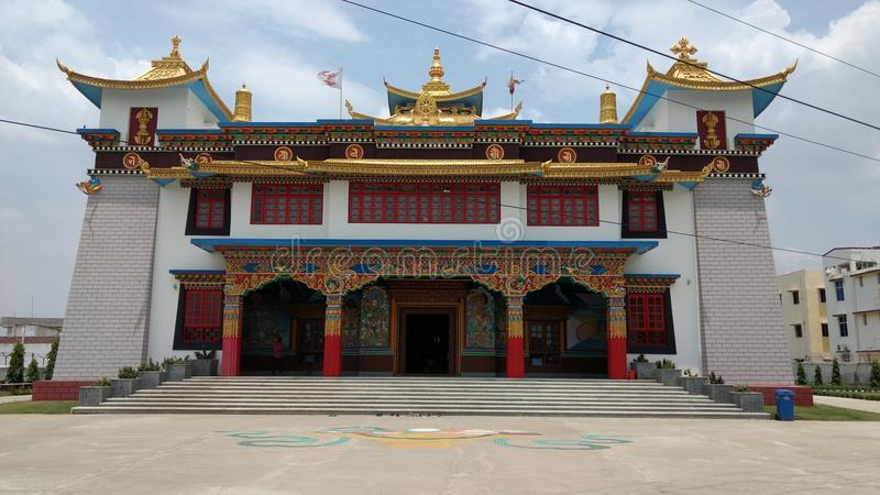 Tibetian buddha tempel arkivfoton