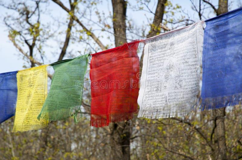 Download TIBETIAN PRAYER FLAGS stock image. Image of green, bhutan - 27721203