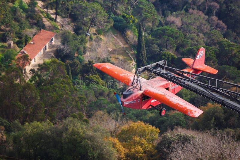 Tibidabo小山的,巴塞罗那游乐园 免版税库存图片