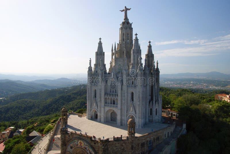 Tibidabo教会 库存图片