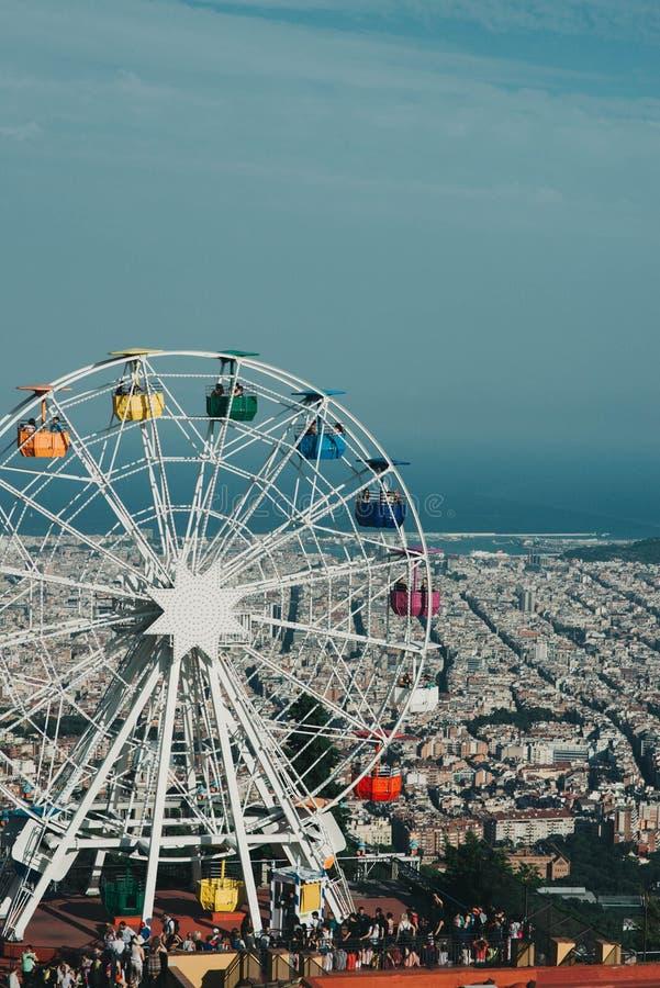 Tibidabo游乐园轮子巴塞罗那 库存照片