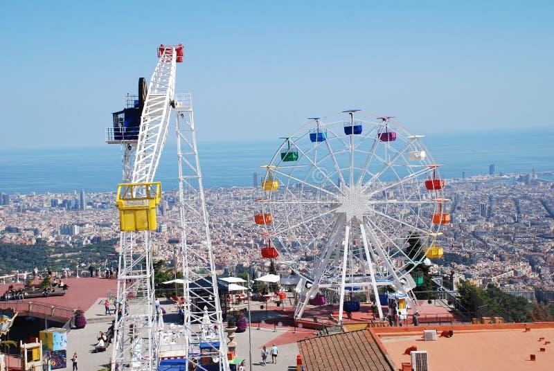 Tibidabo游乐园,巴塞罗那 库存图片