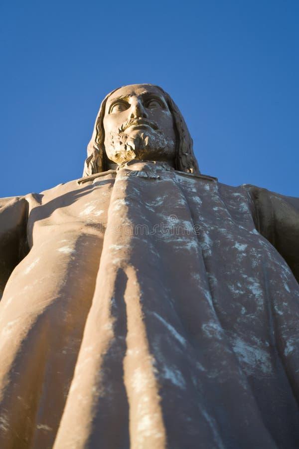 Tibidabo的耶稣 库存图片
