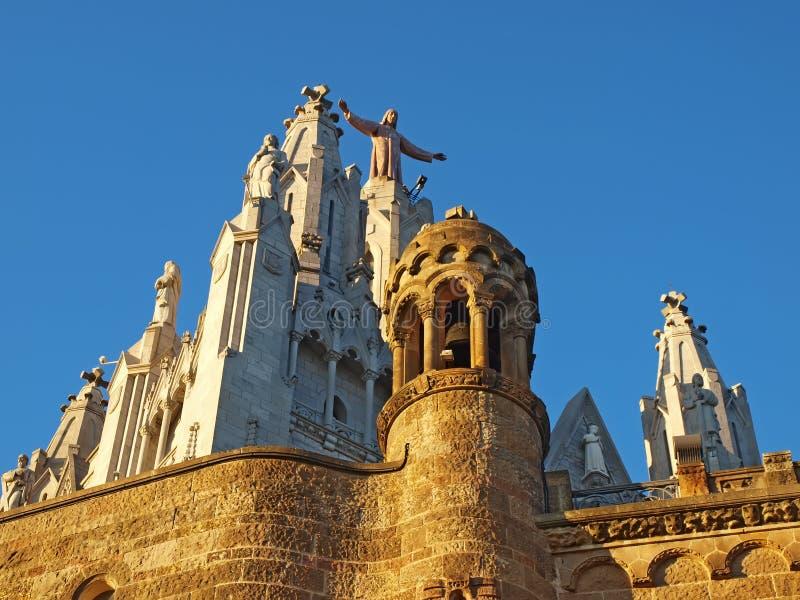 Download Tibidabo Испании церков Barcelona Стоковое Фото - изображение насчитывающей готско, jesus: 41661076