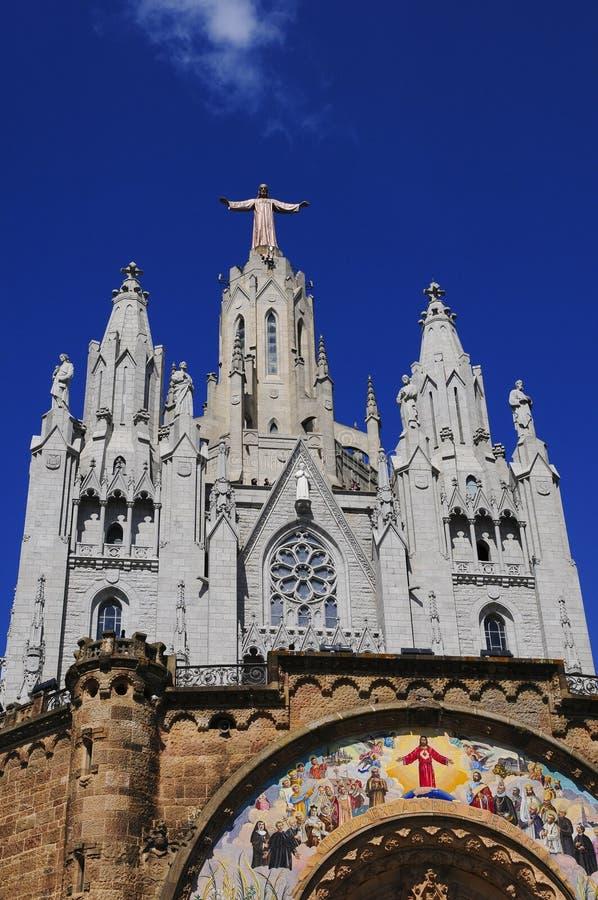 Tibidabo em Barcelona foto de stock