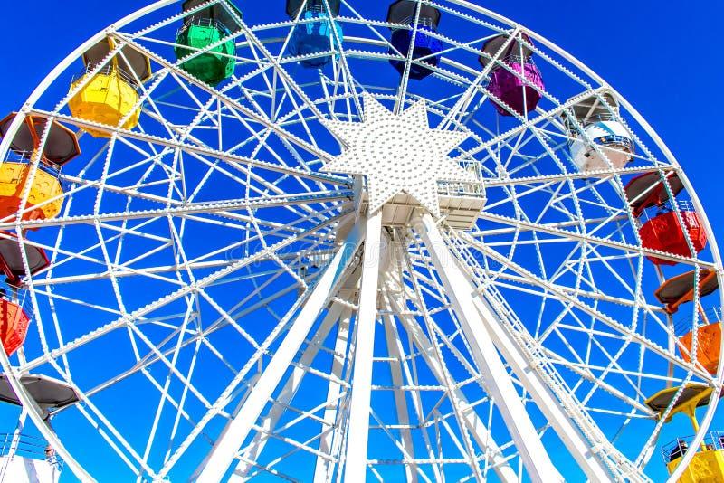 Tibidabo Ferris Wheel i Barcelona fotografering för bildbyråer