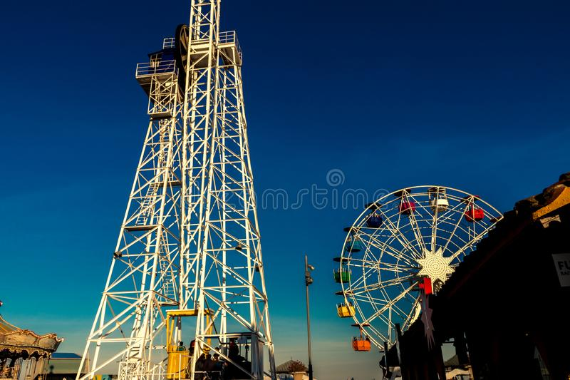 Tibidabo Ferris Wheel i Barcelona royaltyfria foton