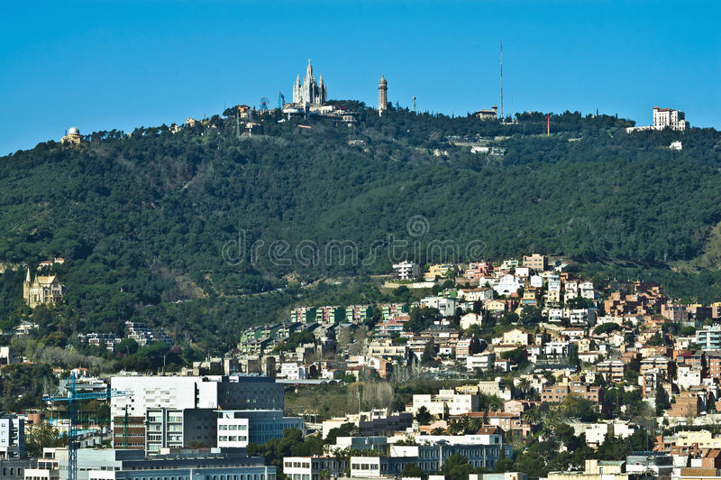 Tibidabo Mount located at Barcelona, Spain royalty free stock photo