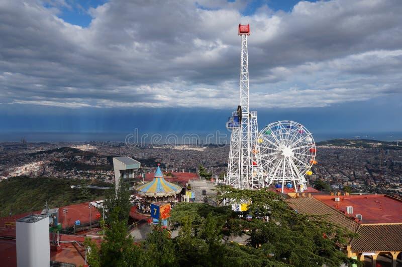Tibidabo nöjesfält royaltyfria foton
