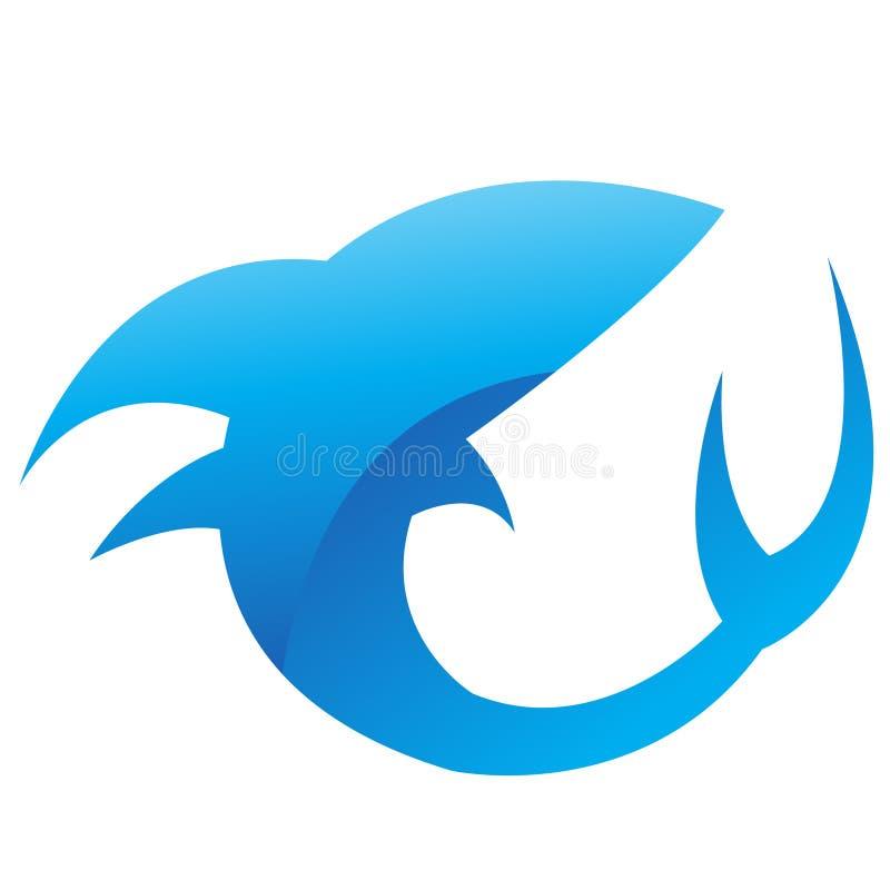 Tiburón azul brillante libre illustration