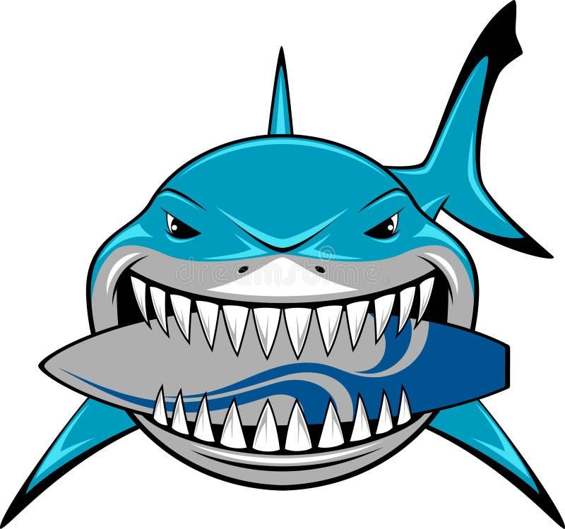 Tiburón blanco stock de ilustración