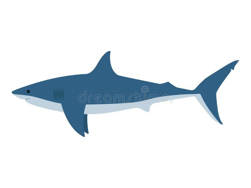 Tiburón blanco peligroso del ejemplo del vector gran ilustración del vector