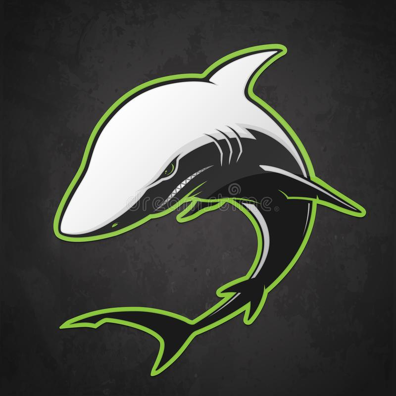 Tiburón blanco y negro stock de ilustración