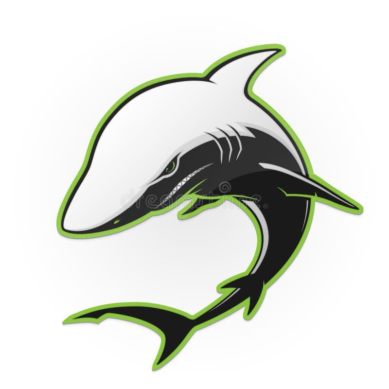 Tiburón blanco y negro ilustración del vector