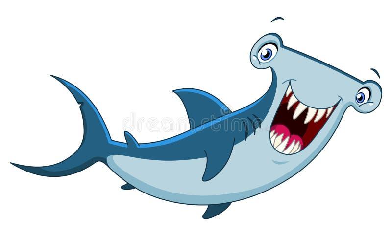 Tiburón de Hammerhead stock de ilustración