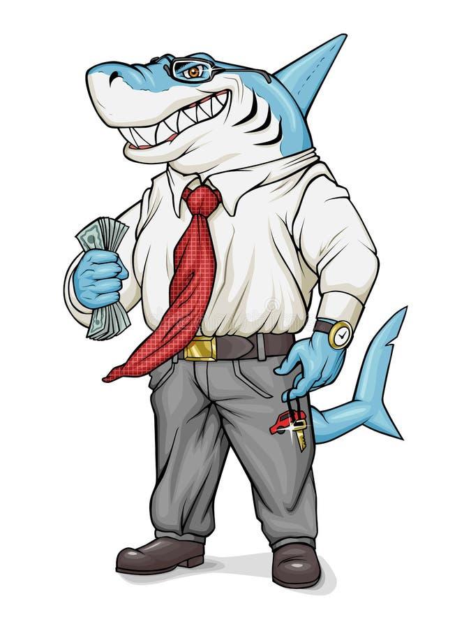 Tiburón del asunto ilustración del vector