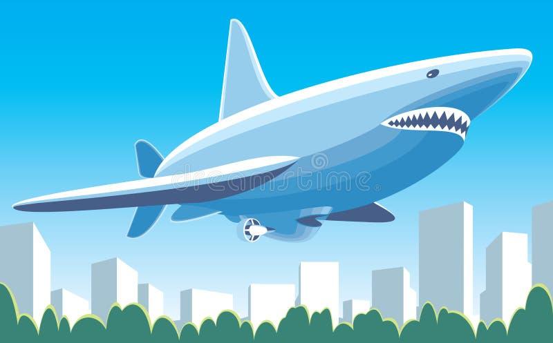 Tiburón del dirigible libre illustration
