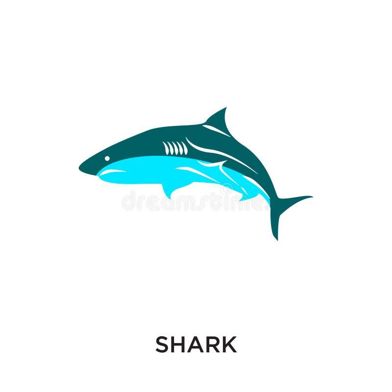 tiburón del logotipo aislado en el fondo blanco para su web, móvil y libre illustration