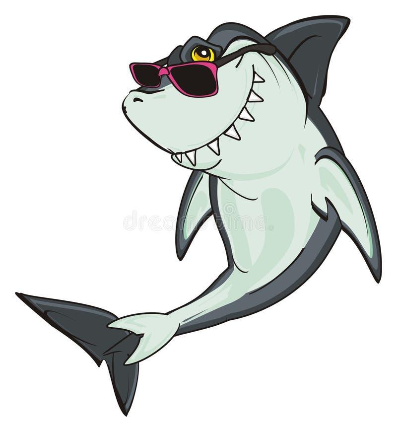 Tiburón en gafas de sol libre illustration