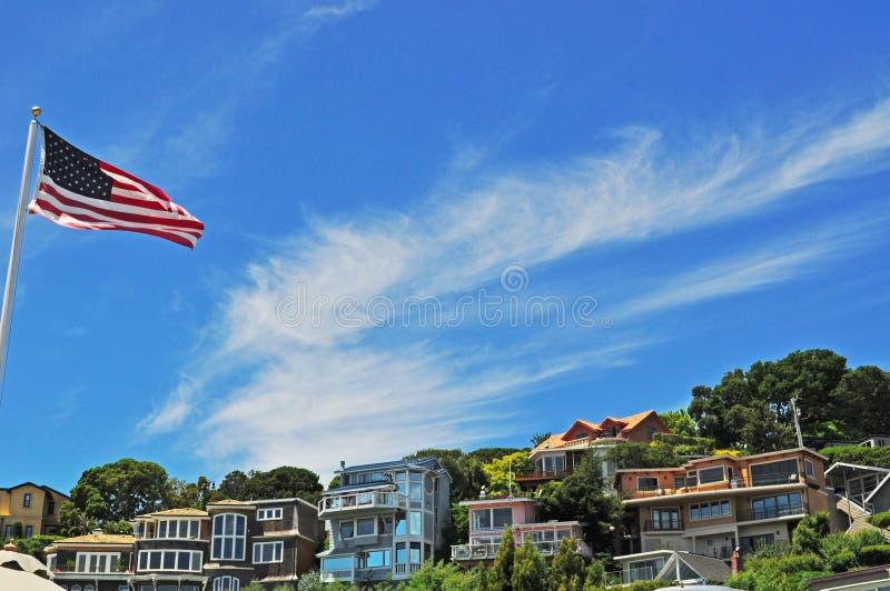 Tiburon San Francisco, Kalifornien, Amerikas förenta stater, USA royaltyfri bild