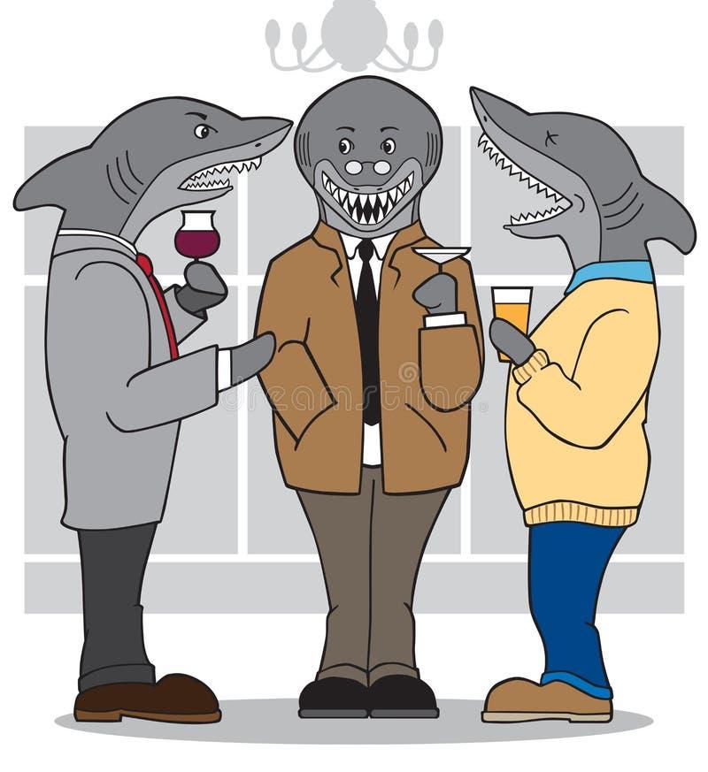 Tiburones del negocio stock de ilustración