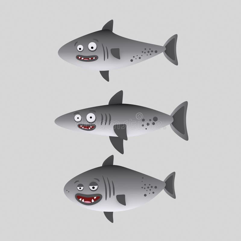Tiburones lindos ilustración 3D libre illustration