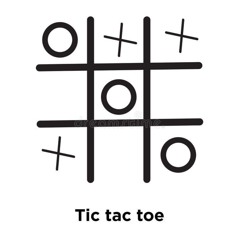 Tic TAC脚趾在白色背景隔绝的象传染媒介,商标conce 向量例证